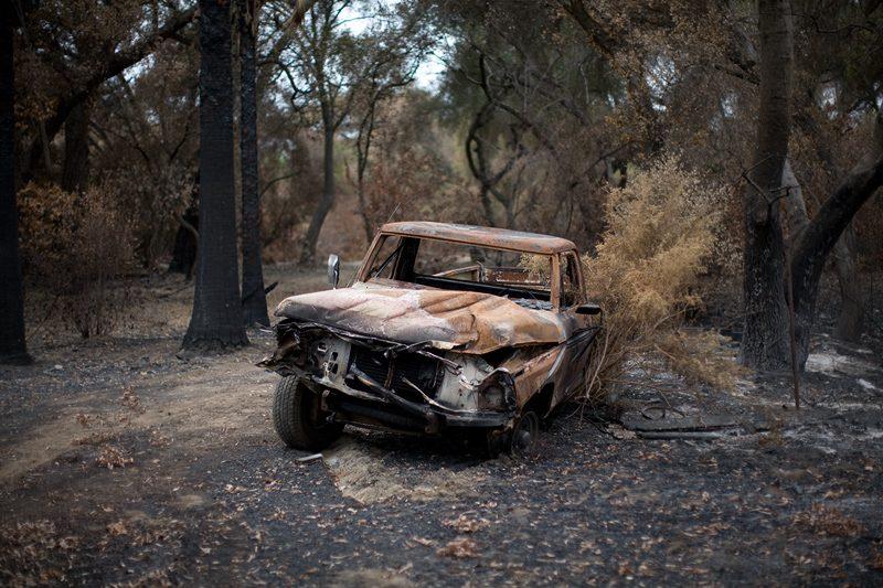 Burned Truck // Photo: Cheryl Spelts