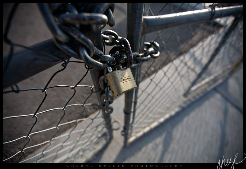 Locked Gate // Photo: Cheryl Spelts
