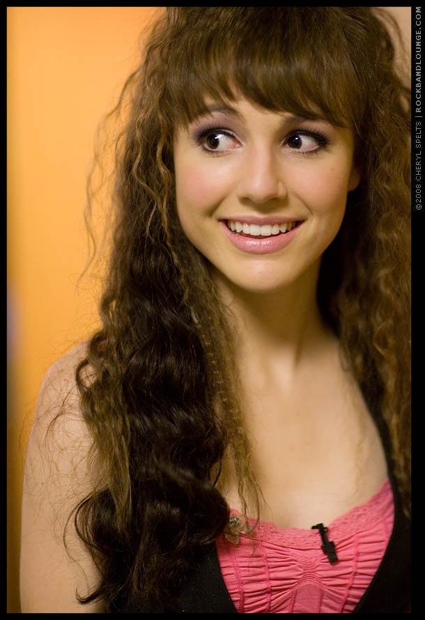 Lara Johnston backstage at MTV's Rock the Cradle // Photo: Cheryl Spelts