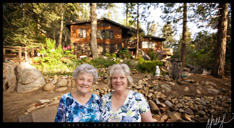 Grandma and Mom in Idyllwild