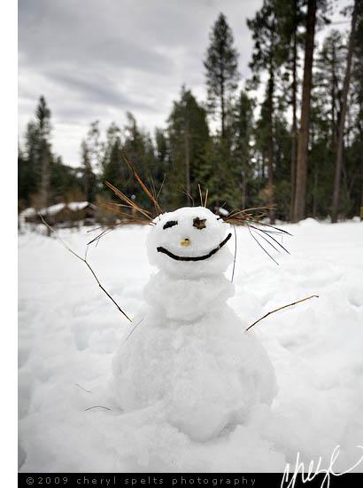 Snowman in Idyllwild // Photo: Cheryl Spelts