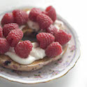 Fresh Raspberries on a Bagel // Photo: Cheryl Spelts
