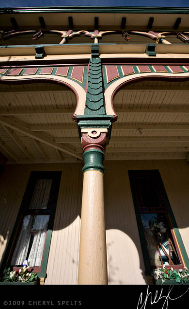 Crescent Bath House Porch Post // Photo: Cheryl Spelts