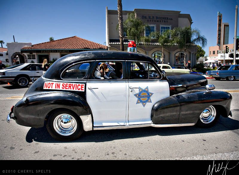 Vintage Police Car // Photo: Cheryl Spelts