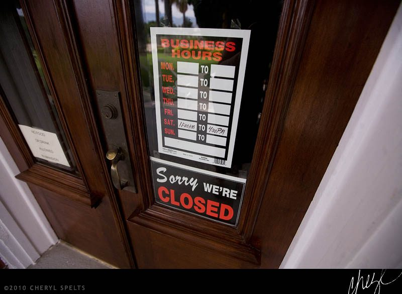 Sorry, We're Closed // Photo: Cheryl Spelts