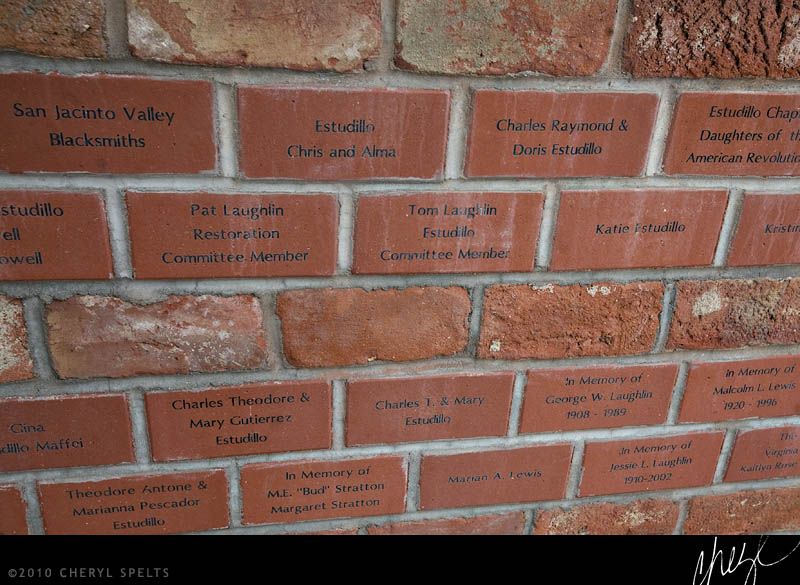 Brick wall at the Estudillo Mansion // Photo: Cheryl Spelts
