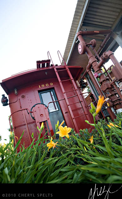 Red Santa Fe Railway Caboose // Photo: Cheryl Spelts