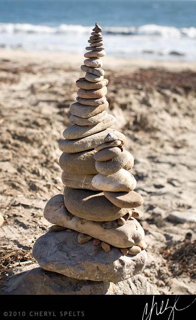 Cairn in Malibu // Photo: Cheryl Spelts