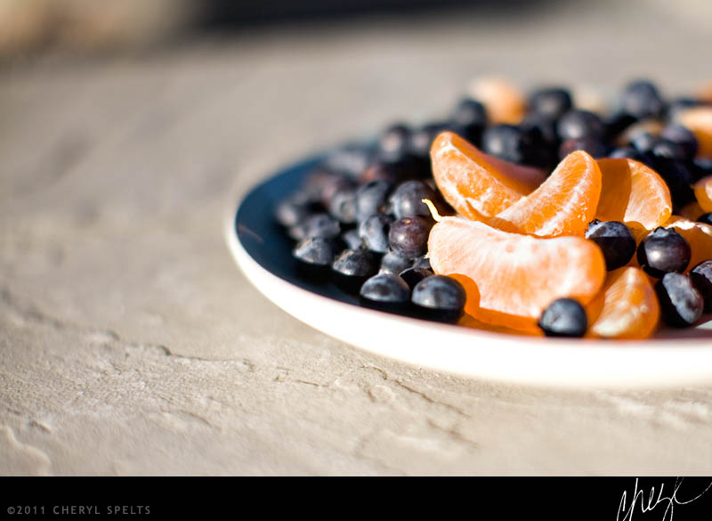 Tangerines and Blueberries // Photo: Cheryl Spelts
