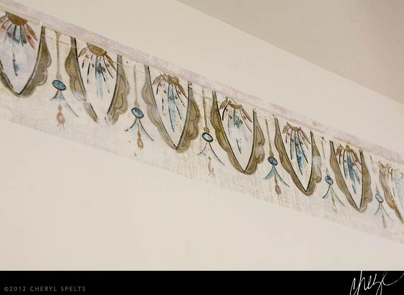 Hand-Painted Frescoed Border // Photo: Cheryl Spelts