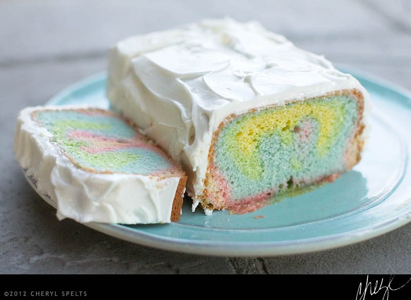 Rainbow Jello Cake // Photo: Cheryl Spelts