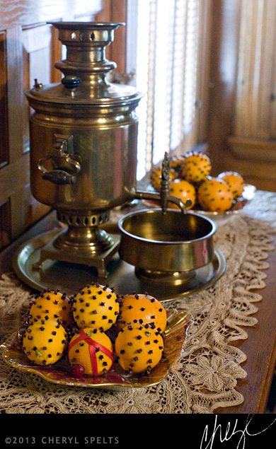Victorian Spiced Oranges and Cider // Photo: Cheryl Spelts