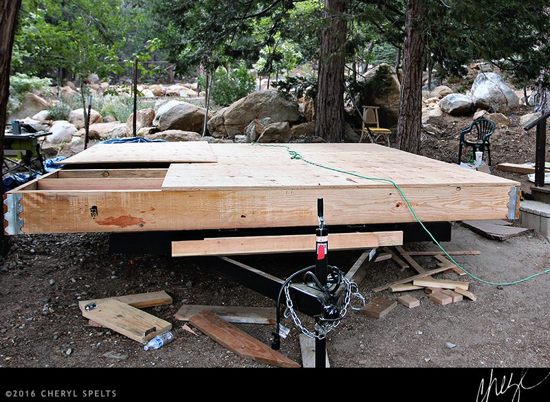 Foundation for a Wide Tiny House // Photo: Cheryl Spelts