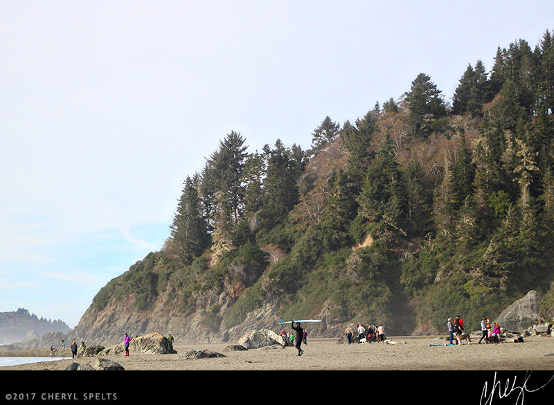 A crowded beach day in Humboldt County... // Photo: Cheryl Spelts